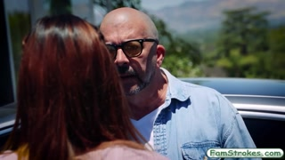 Demi Lopez banged and facialed by daddy