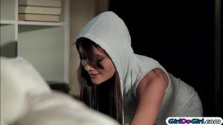 Adria Rae caught sniffing Gias panties