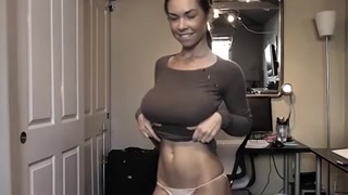 Boob bouncing dance - FlirtSexLove.com - watch the continuation here