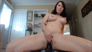 Cam Brown Haired jizzes hard with colossal sex toy