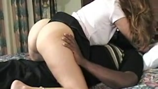 Sexy house wife takes Huge Black Cock cream pie