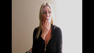 Blond Sweetheart Smoking #1