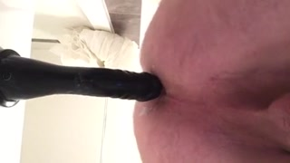 Riding a sex toy for exactly the first actual time.