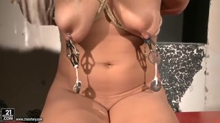 Bondage And Discipline action with filthy lesbians named Mandy Absolute Best and Nikky Thorne