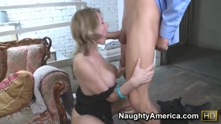Naughty Velicity Von in exactly the Office arched over to hookup doggie-style