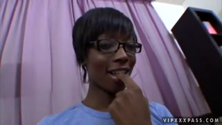 Black Taylor Starr spreads her stems and lets me to finger her ebony vag