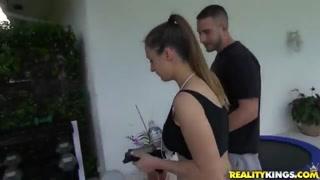 A aggressive mature trainer seduces a young woman