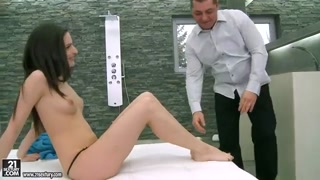 Ann Marie La Sante licked after bright feet sex