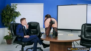 Huge tits Raven Bay analyzed by coworker