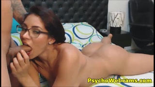 Babe with Glasses and Big Booty Fuck