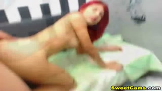 Hot Redhead Chick Fucks on Her Wet Pussy