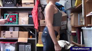 Blondie shoplifter Zoey Clark boned hard