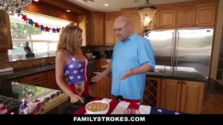 FamilyStrokes - 4th Of July BBQ Turns Into Step Sibling Fuckfest