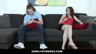 FamilyStrokes - Hot Stepsis Gets Pussy Pounded by Jerk Stepbro
