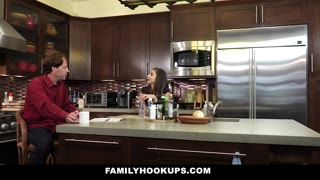 FamilyHookups- Horny Stepdaughter Offers Dad Handjob