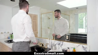 ExxxtraSmall - Petite Teen Deepthroats Pissed Stepdad