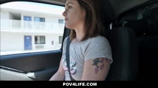 Tiny Teen Rosalyn Sphinx Attached By Uber Driver