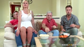 Stepmom takes some young schlongs  - Brazzers