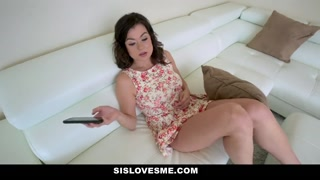 SisLovesMe - Appealing Stepsis Rides Stepbros Immense Hard-on