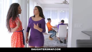 DaughterSwap - Enticing Latina Besties Penises Swap