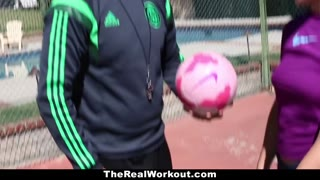 TheRealWorkout - Kimber Lee Will Get Entered By Her Soccer Coach!