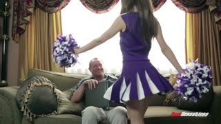 Cheerleader Stepdaughter Riley Reid Pounds Father