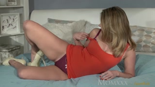 MOM Sexy Russian Milf plays with herself as enthusiast watches before hard get it on with
