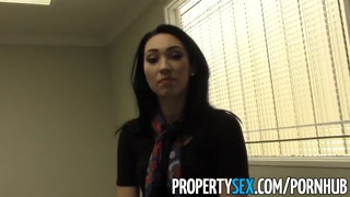 PropertySex - Ruthless realtor blackmailed inside of sex renting office space
