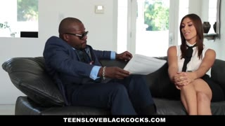 TeensLoveBlackCocks - Brown Haired Beauty Screws Immense Ebony Penis For Cash