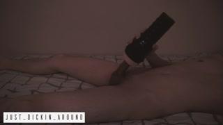 EVA LOVIA Anal-sex FLESHLIGHT QUICKIE Cream-pie BEFORE WORK